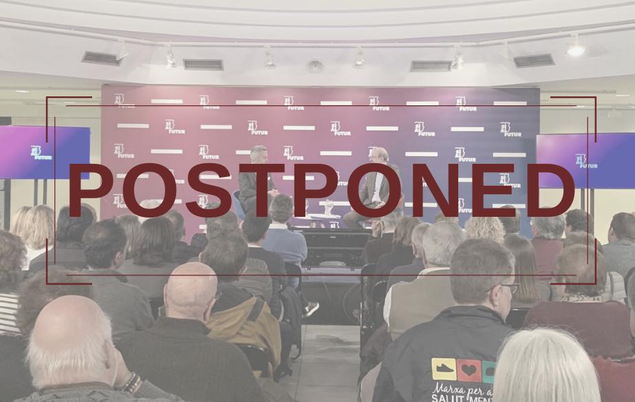 The presentation of Sí al futur in Mallorca, postponed due to COVID-19