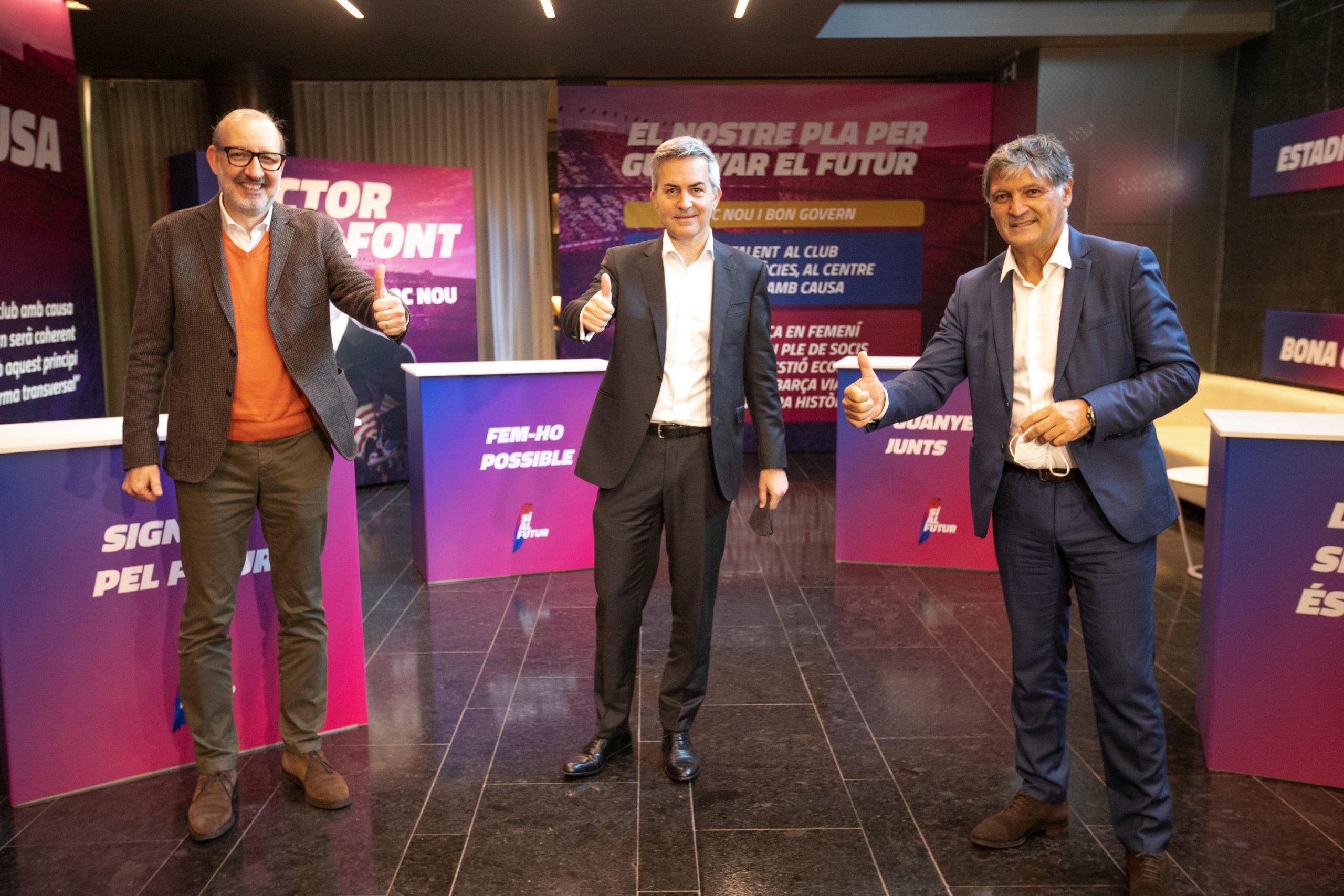 Víctor Font ja ha presentat a Antoni Bassas, Ramon Cugat i Toni Nadal com a noves incorporacions de Sí al futur