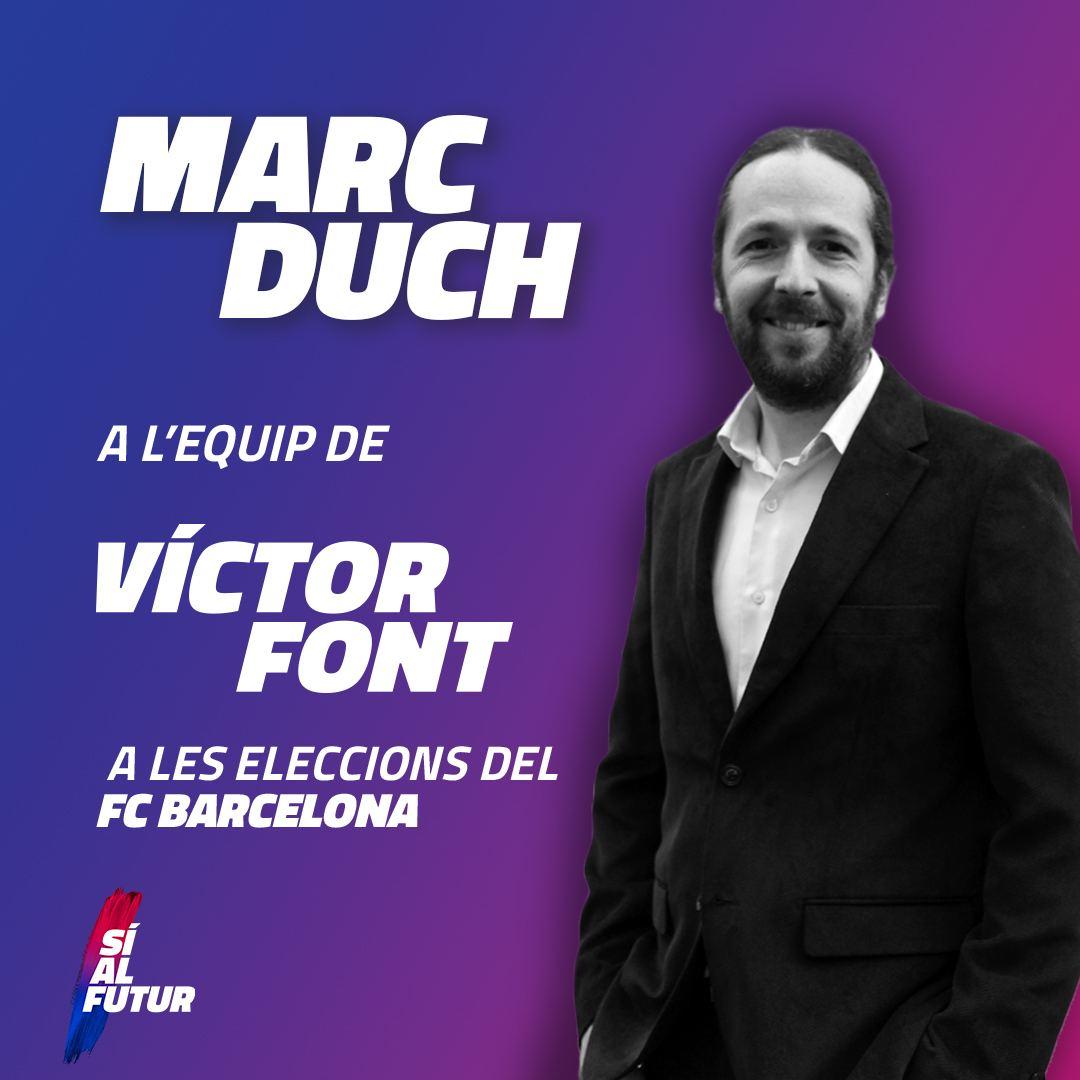 Marc Duch s'incorpora a Sí al Futur per ser un dels puntals de l'àrea social del Club